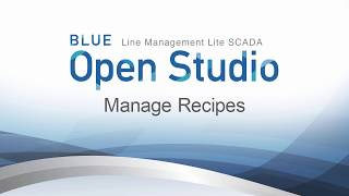 Video: BLUE Open Studio: Manage Recipes
