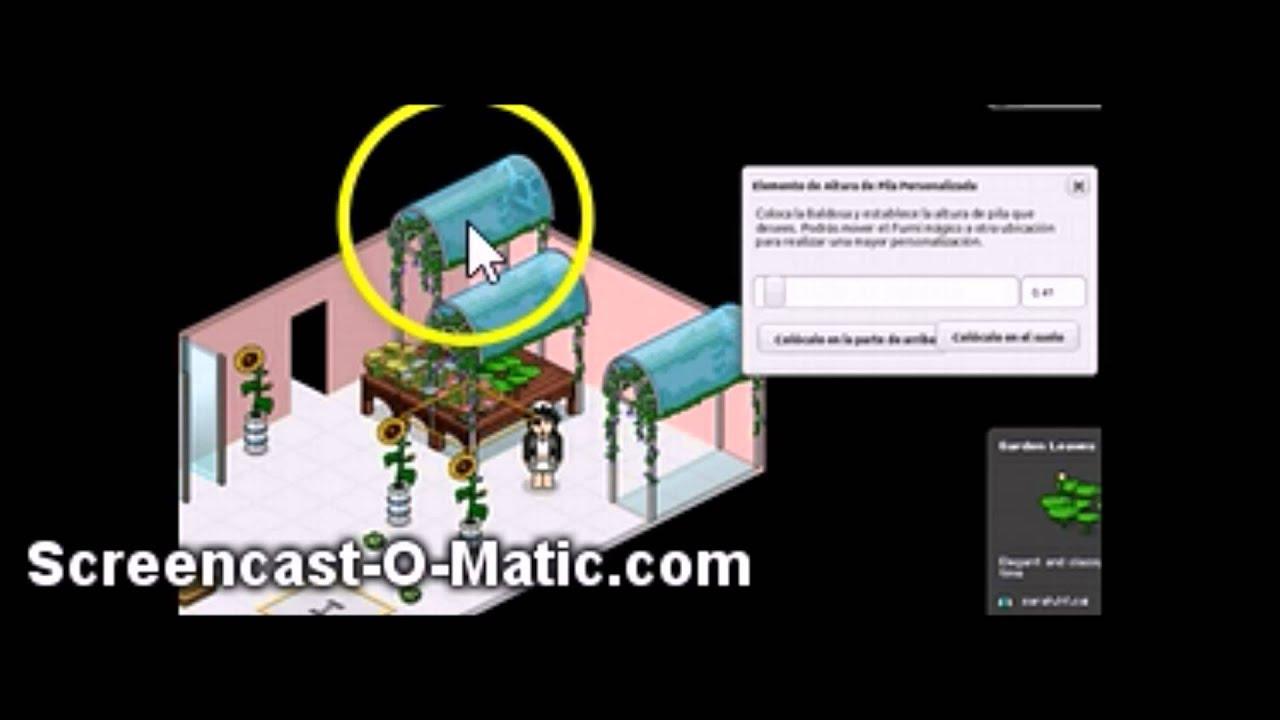 Tutorial habbo decoraciones para tu jardin patio youtube for Habbo decoraciones