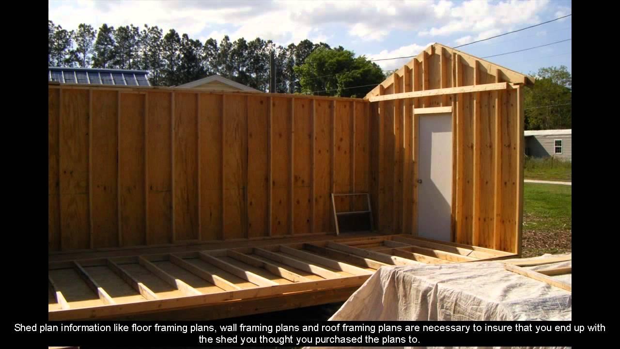 8 x 12 shed plans [ 1280 x 720 Pixel ]