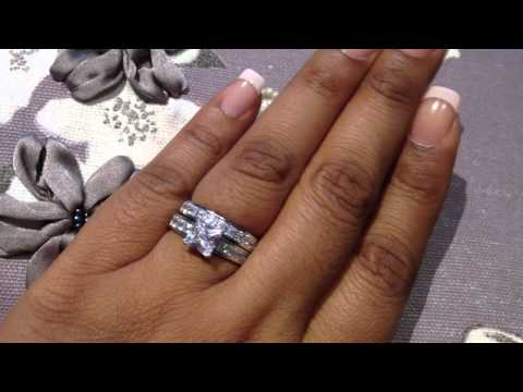 Princess Cut Bridal Wedding Ring Set