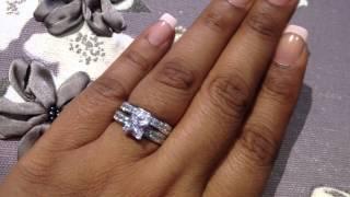 Princess Cut Bridal Wedding Ring Set