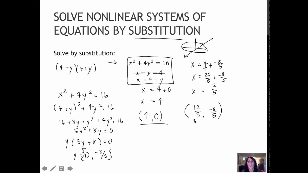 Systems Of Equations Substitution