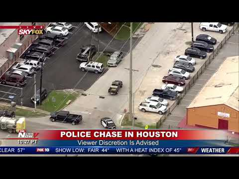 HOUSTON POLICE CHASE: Suspect WIPED OUT By Police