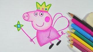 Como desenhar PEPPA PIG passo a passo