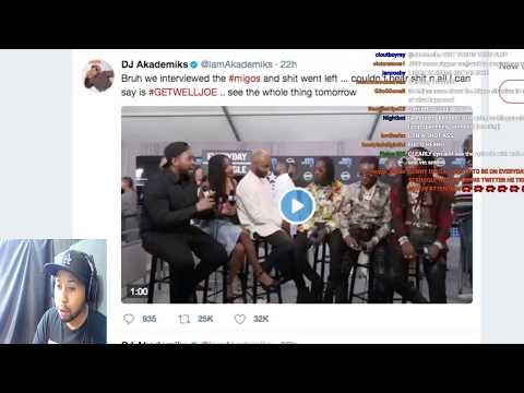 DJ Akademiks Full Stream speaking on Migos incident and Vic Mensa situation.