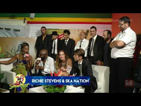 interview - Richie Stephens and The Ska Nation Band at Reggae Sumfest 2017 Montegobay Jamaica