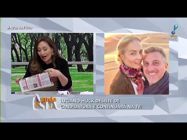 """""""Era um desejo muito grande"""", diz Sonia Abrão sobre Huck na presidência"""