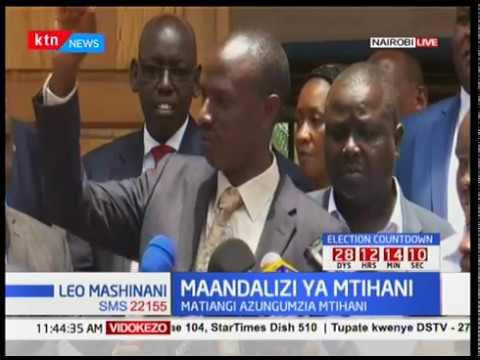 KNUT Secretary General Wilson Sossion The exam dates will not be altered