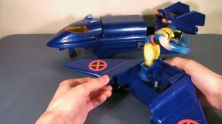 X-Men Blackbird Re-review Toybiz 1994 mobile air command