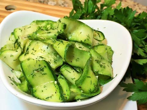 КАБАЧКИ  МАРИНОВАННЫЕ  за 1 час.   Салат из кабачков.  (Marinated Zucchini)
