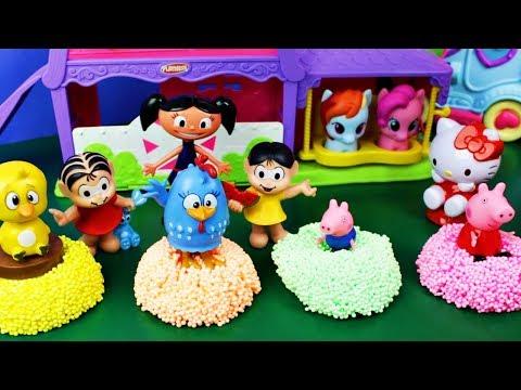 Historinhas Luna, Peppa e Galinha Pintadinha Sumiram! Ajudem a Hello Kitty a Procurá-las!