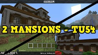 Minecraft Xbox 360  PS3 TU54 - DOUBLE WOODLAND MANSIONS