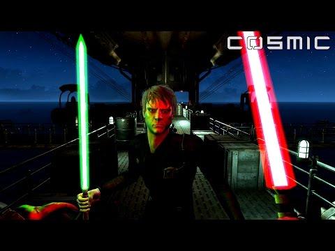 FALLOUT 4 - STAR WARS BATTLE (Darth Vader VS. Luke Skywalker)