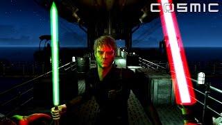 FALLOUT 4 - STAR WARS BATTLE Darth Vader VS. Luke Skywalker