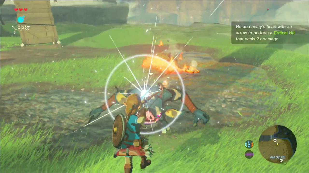 Link Shows off his Bow and Arrow Skills in this Breath of the Wild Clip