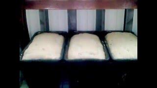 Приготовление теста и выпечка ржаного домашнего хлеба.