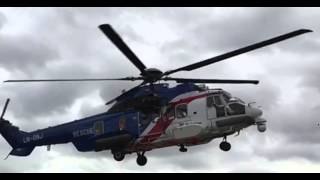 Slow Motion Video Showing Rotor Blade Movements of Super Puma EC 225
