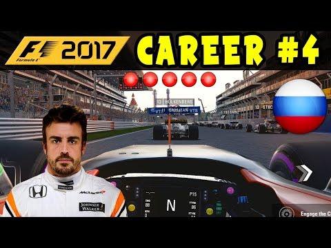 F1 2017 CAREER MODE PART 4 - RUSSIAN GP  - McLAREN HONDA | EXCLUSIVE | INTERACTIVE LIVESTREAM