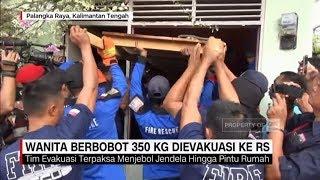 Dramatis! Evakuasi Wanita 350 Kg dari Potong Jendela Rumah, Ditandu 20 Orang hingga Dibawa Pick-Up