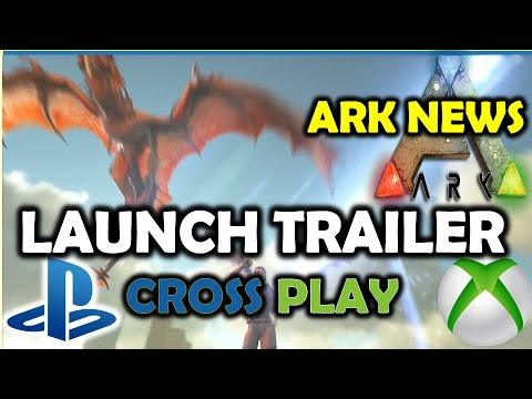 Ark Survival Evolved PS4 Launch Trailer / Screen Tearing / Language Bug / Cross Play / Update 500.2