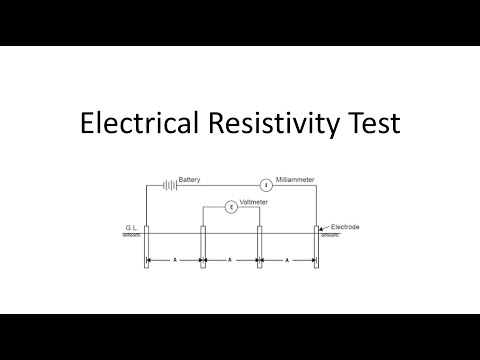 Electrical Resistivity test for soil   Wenner's Method   Geophysical in-situ experiment