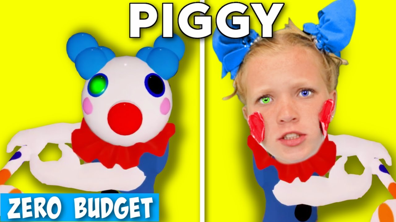 PIGGY WITH ZERO BUDGET! RECREATING PIGGY CHARACTERS with NO PROPS