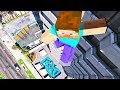 Minecraft in GTA 5 Crazy Steve Jumps-Falls-Ragdolls [Euphoria physics   Funny Moments]