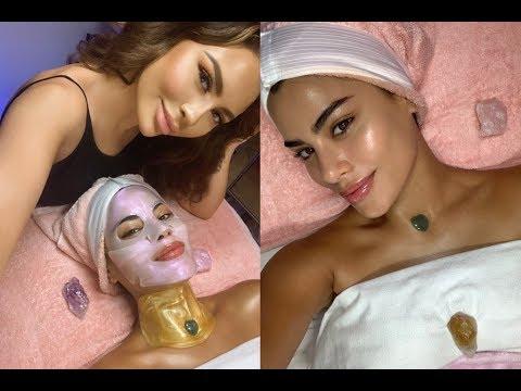 ASMR Supermodel Facelift Facial Ft Ariadna Guiterrez {Miss Colombia} | Jadeywadey180 thumbnail