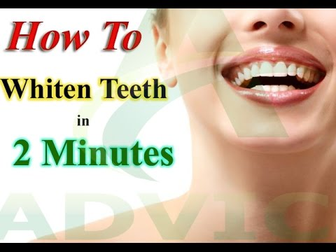 How To Whiten Teeth In 2 Minutes Yellow Teeth Whitening Diy