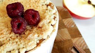 Яблочно-банановый крамбл! Легкий рецепт тертого пирога! 🥧
