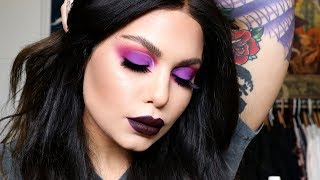VAMPY PURPLE MAKEUP - CHATTY GRWM - FREEDOM COUTURE WIGS - DEPRESSION & ANXIETY | BAILEY SARIAN