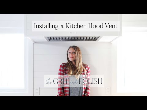 Built-in Kitchen Hood Vent How To // A weekend project for a high end look