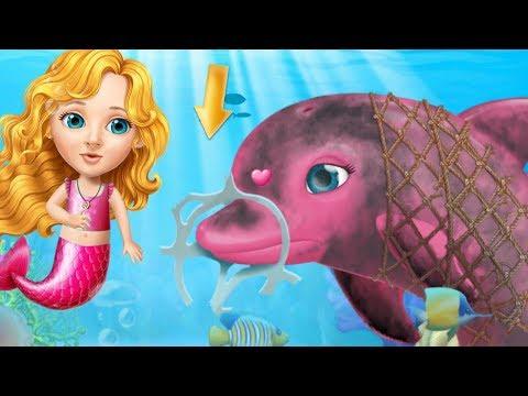 Fun Care Kids Game - Sweet Baby Girl Mermaid Life - Magical ocean Underwater Explorer Makeover Games