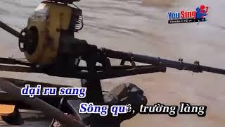 Karaoke Sông Quê - Thiếu giọng nữ
