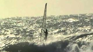 Windsurf Wave in Marsala (Sicily). Nick in action