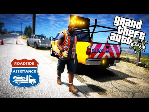 GTA 5 - San Andreas Department of Transportation - Roadside