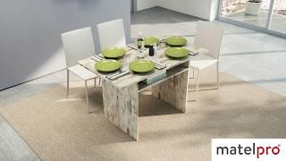 Table console extensible contemporaine en bois Selena | Matelpro.com