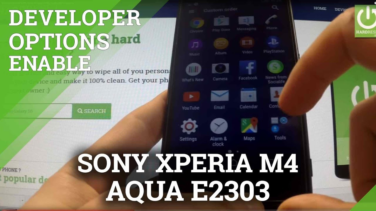 Mobile Info: Sony Xperia M4 Reset