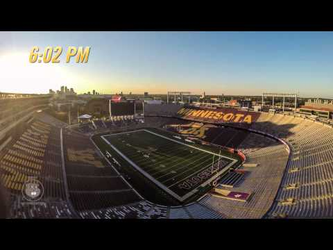Vikings-Gophers Time Lapse: 48 Hours of Minnesota Football Gameday