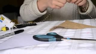 DIY Rustic No-Sew Burlap Pennant Banner