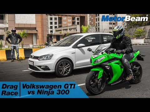 Volkswagen Polo GTI vs Kawasaki Ninja 300 - Car vs Bike: Episode 3 | MotorBeam