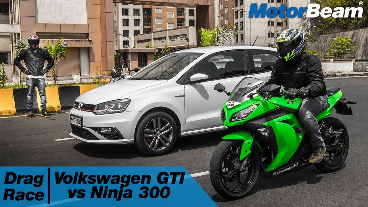 Volkswagen Polo Gti Vs Kawasaki Ninja 300 Car Vs Bike Episode 3