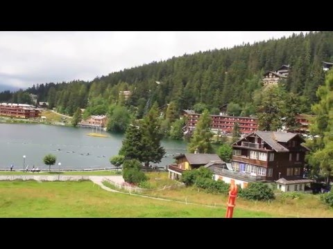 Switzerland. Crans - Montana. Swiss Alps. Ski resort in the summer.