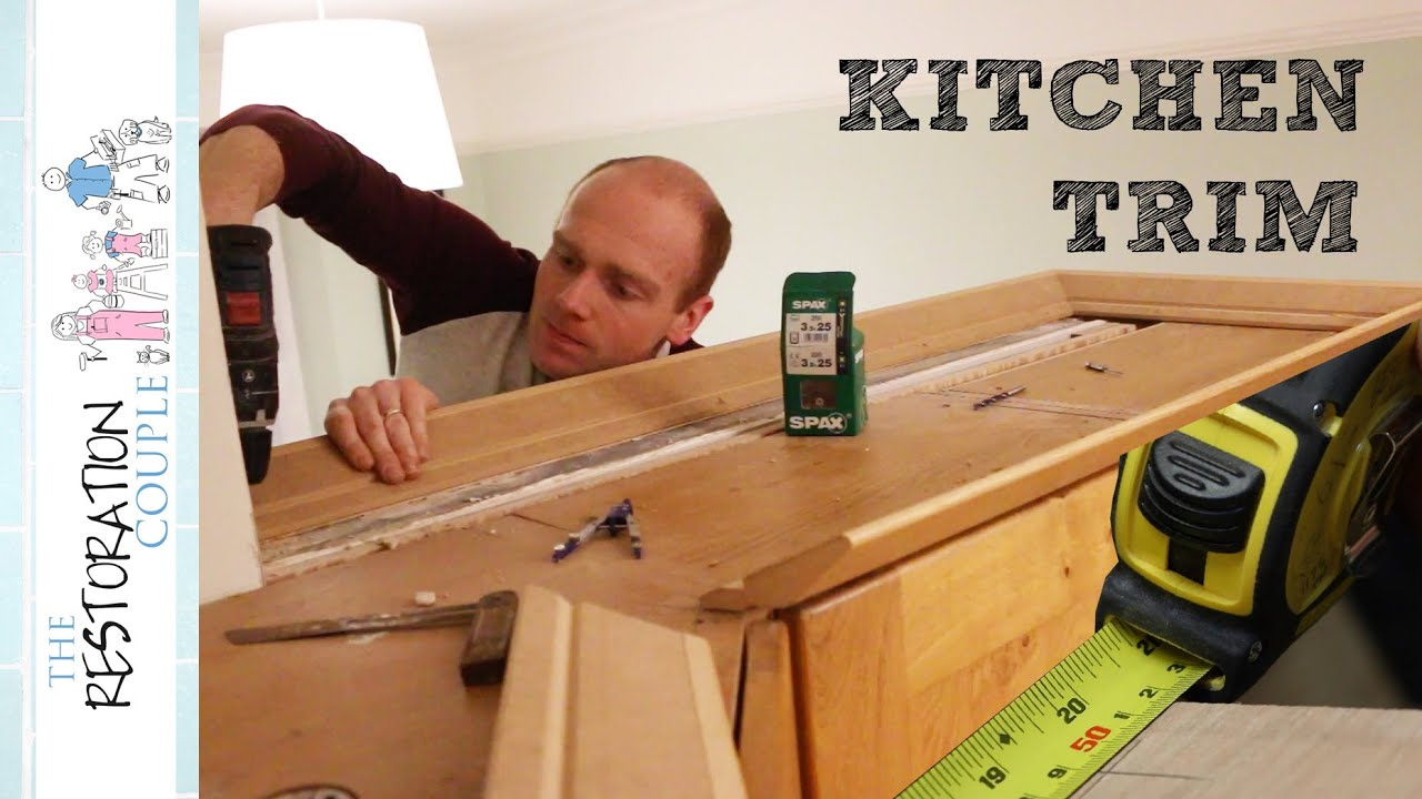 Fitting Kitchen Cornice And Pelmet Youtube