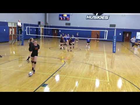 RMS Red A 8th grade vs Herget middle school - first set