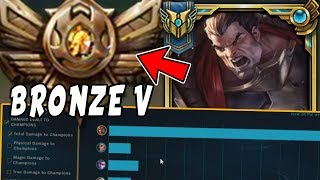 Download CHALLENGER Darius Goes Into BRONZE 5! HARD Smurfing in Bronze V - League of Legends Mp3 and Videos