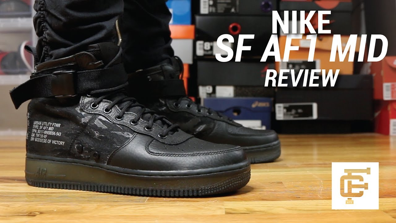 Nike Sf Af 1 Mid Gs Air Force 1 Black Gum Kid Youth Wom