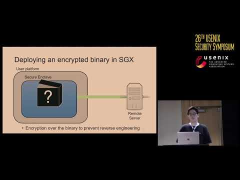 USENIX Security '17 - Hacking in Darkness: Return-oriented Programming against Secure Enclaves