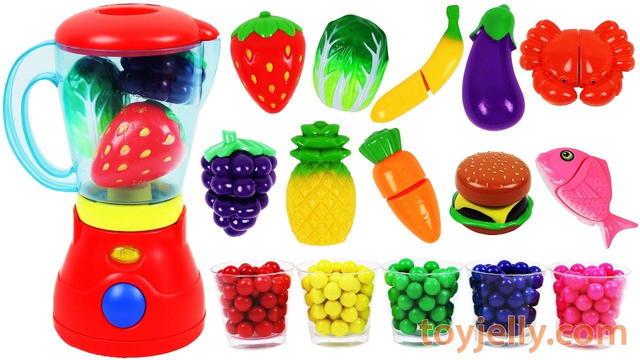 Toy Blender Playset Learn Colors Fruits Vegetables Food