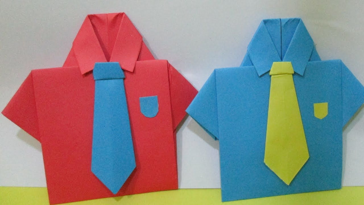 Shirt, Origami SHIRT N TIE || Origami For Kids || Step By Step ... | 720x1280